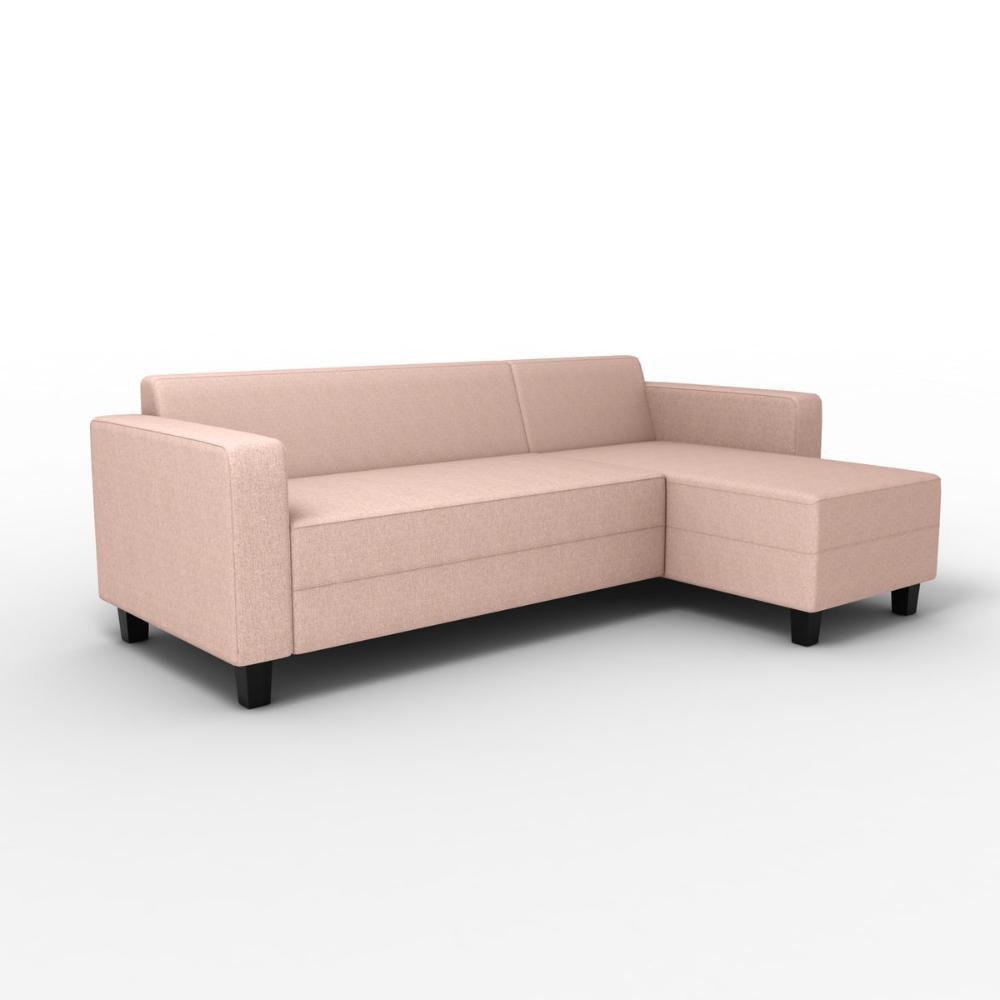 Sofá de 3 Lugares com Chaise Metro Linn Bege 205cm - Etna ...