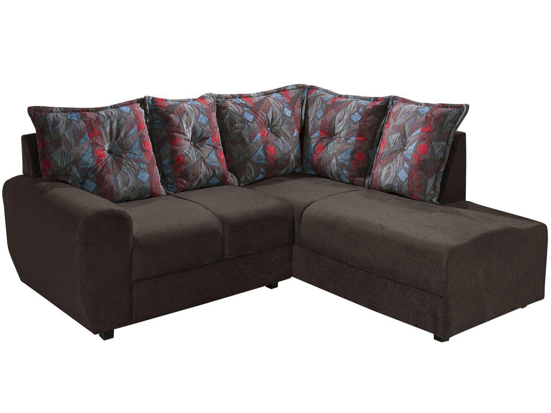 Sof de canto chaise 2 lugares alaska american comfort for Sofa 03 lugares com chaise