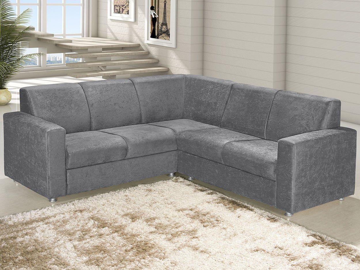 sof de canto chaise 2 lugares revestimento suede roma american comfort sof de canto. Black Bedroom Furniture Sets. Home Design Ideas