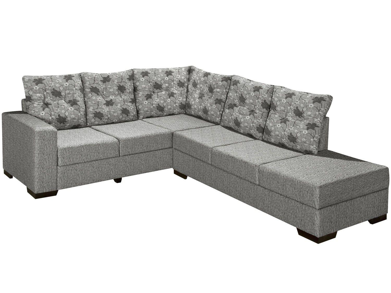 Sof de canto chaise 5 lugares sevilha banqueta direita for Sofa com chaise 5 lugares