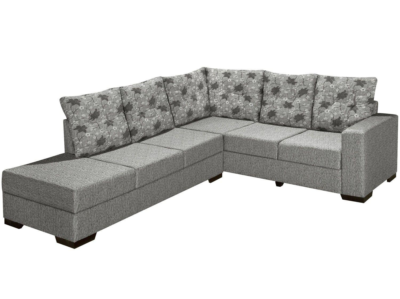 Sof de canto chaise 5 lugares sevilha banqueta esquerda for Sofa 5 lugares com chaise