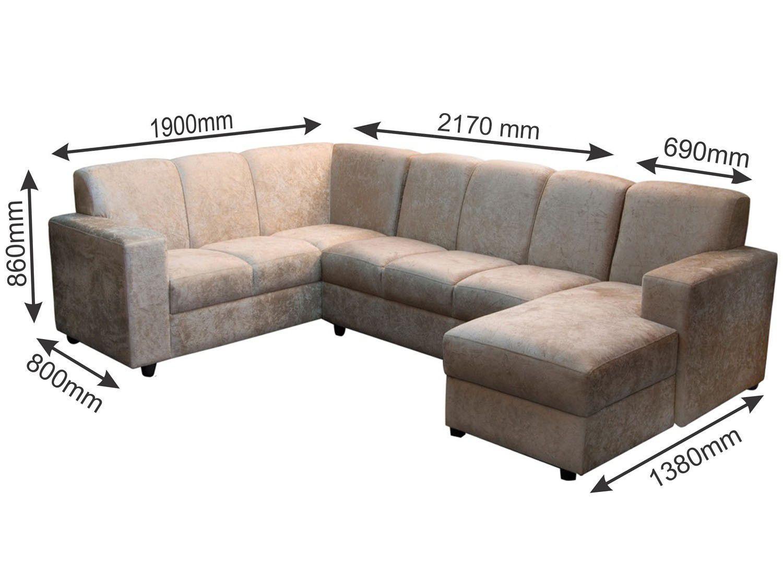 Sof de canto chaise 7 lugares suede europa somopar - Medidas de sofas 3 2 ...