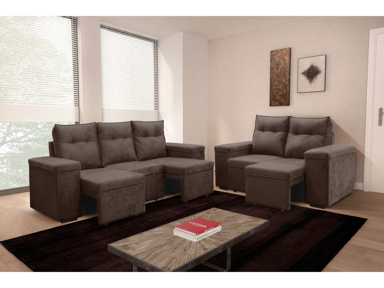 Magazine luiza sofas retratil 2 e 3 lugares www for Sofa 03 lugares retratil e reclinavel