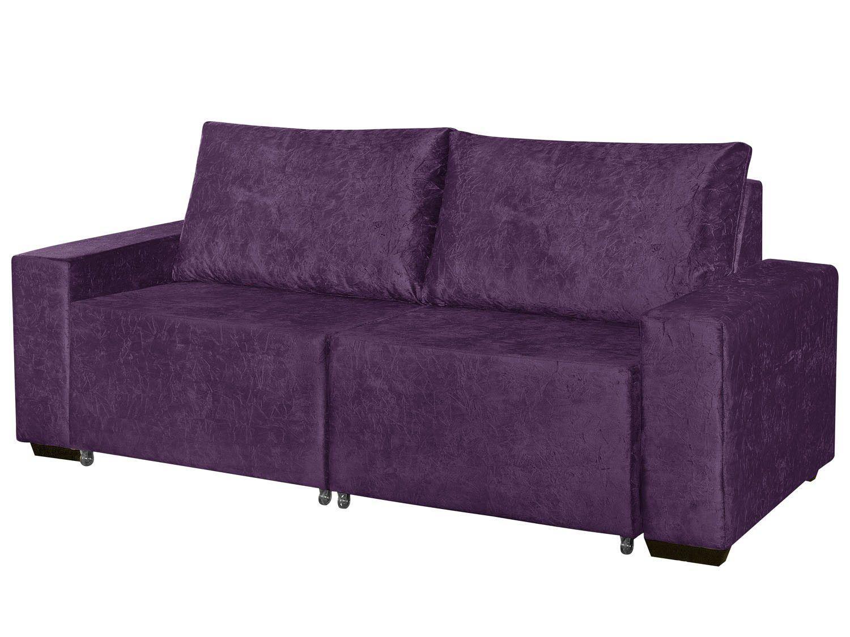 Sof retr til 3 lugares suede fluence american comfort for Sofa retratil 6 lugares