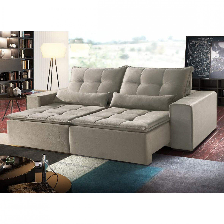 Magnificent Sofa Retratil 4 Lugares Divina Decor Bege Pdpeps Interior Chair Design Pdpepsorg