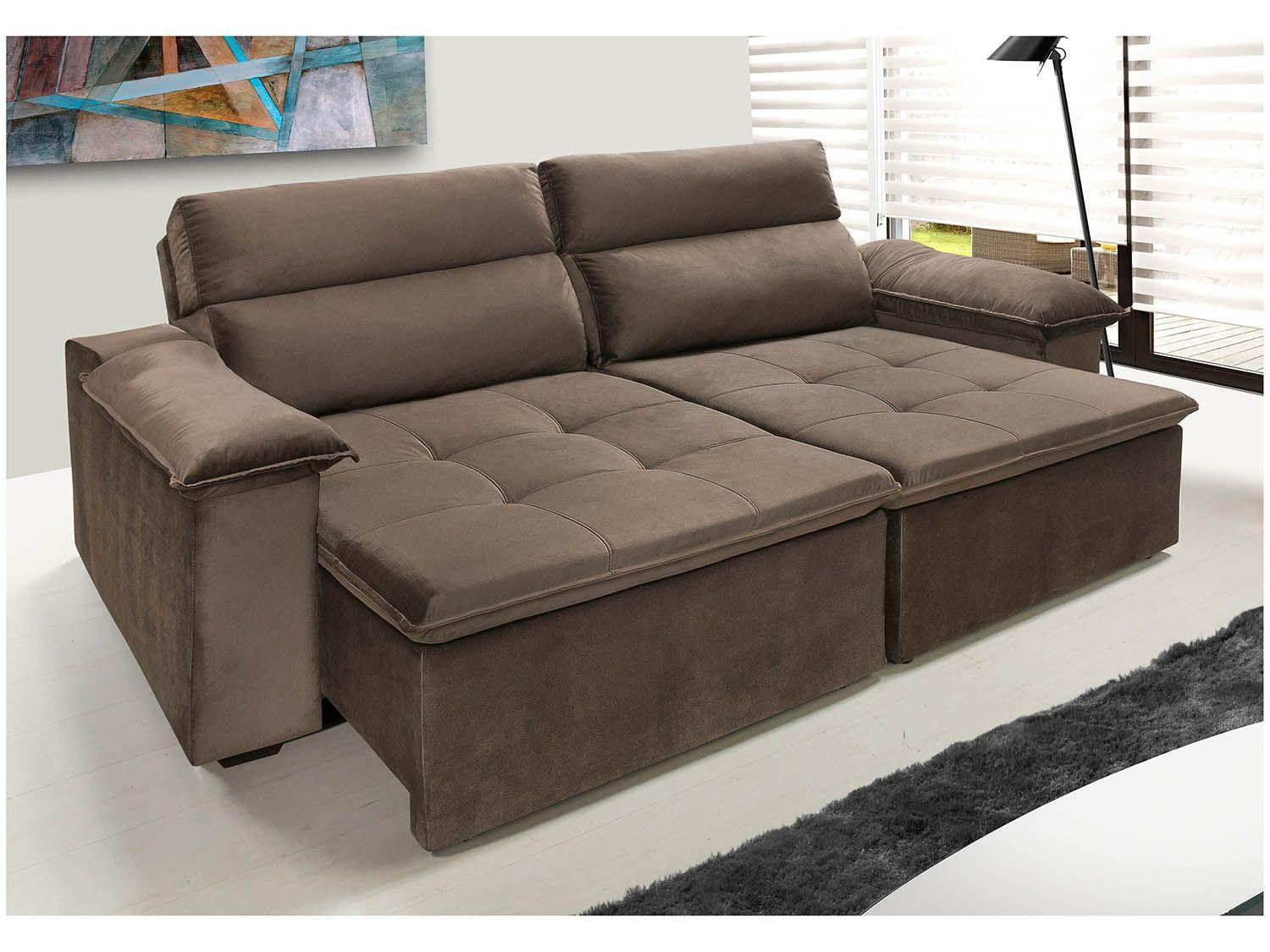 Sof retr til e reclin vel 3 lugares suede avalon hellen for Sofa 03 lugares retratil e reclinavel