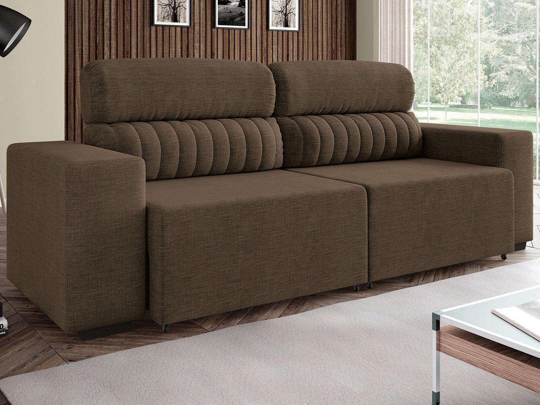 Sof retr til e reclin vel 4 lugares revestimento suede for Sofas articulados modelos