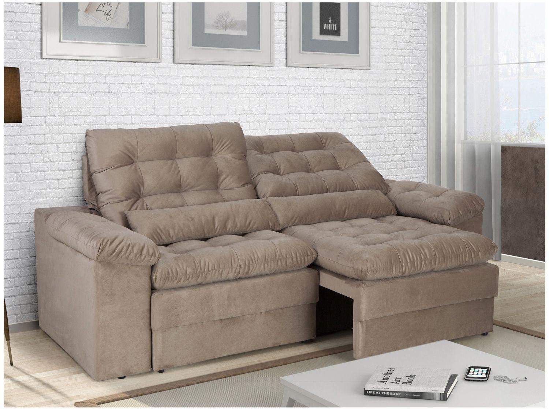 Sofa Retratil E Reclinavel 4 Lugares Velosuede Cristal Next Sofas Sofa 4 Lugares Magazine Luiza