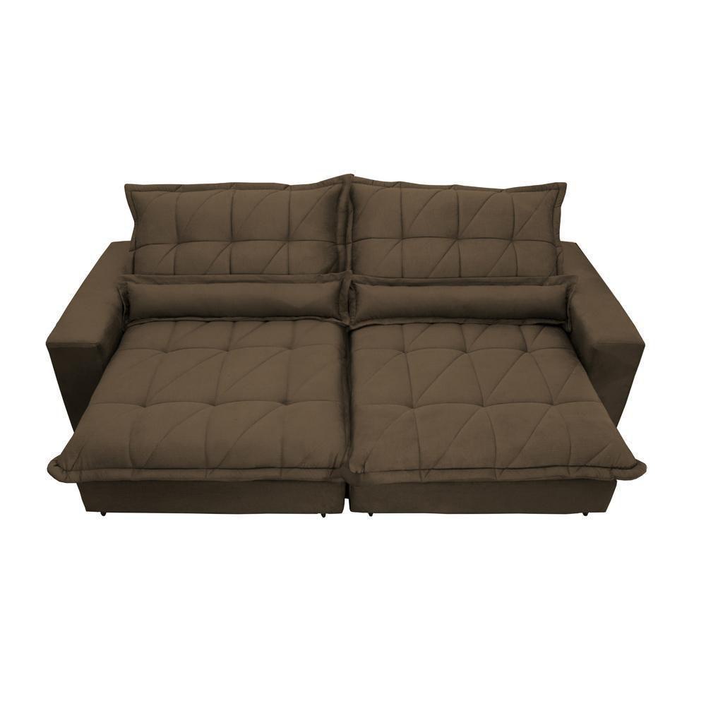 Sofa Retrátil e Reclinável com Molas Ensacadas Cama inBox ...