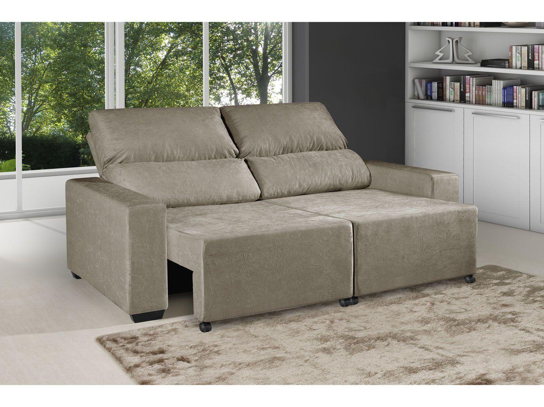 Sof retr til reclin vel 3 lugares suede elegance - Medidas de sofas 3 2 ...