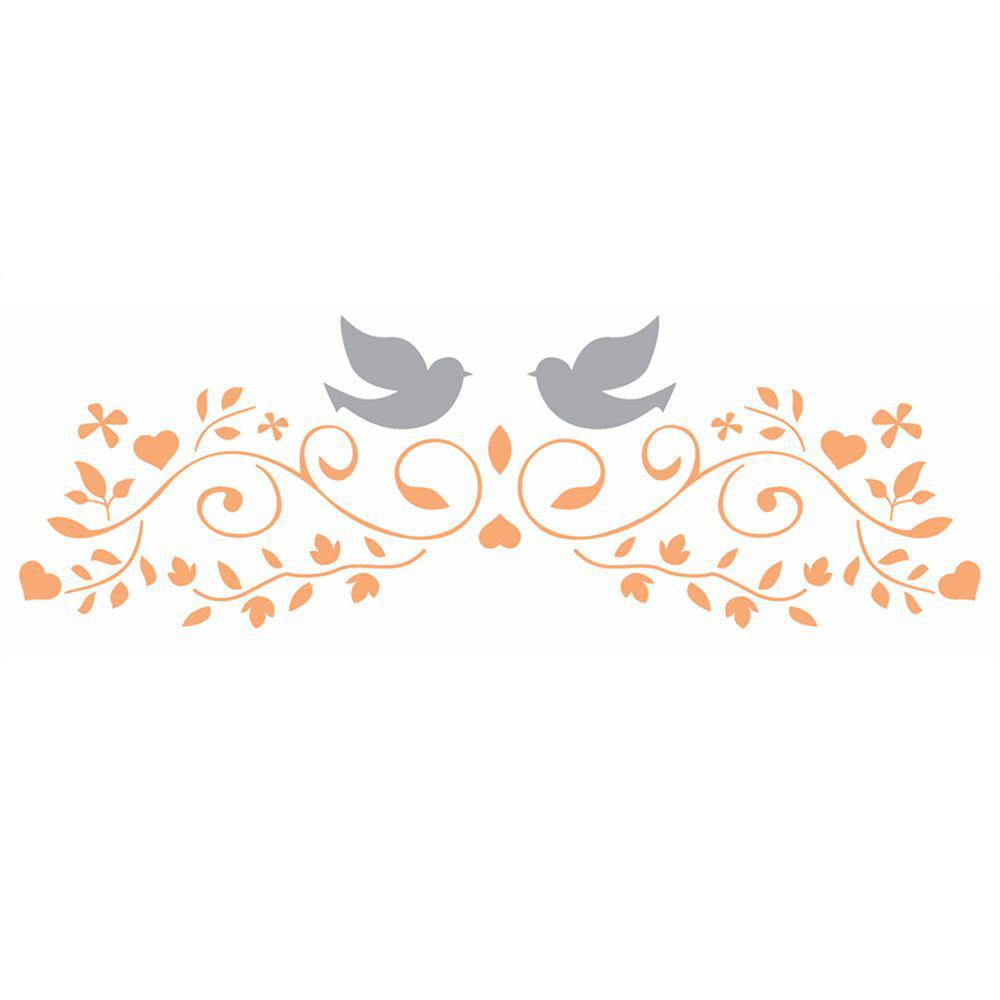 Stencil Opa 10x30 2416 Arabesco Casamento Estencil Para Pintura