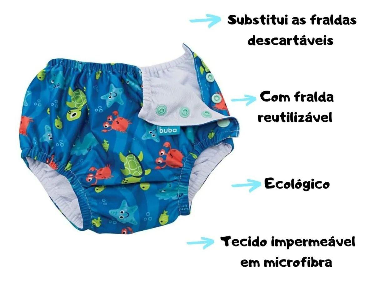 Sunga Bebê Moda Praia Infantil Piscina reutilizável Buba P - Sunga para  Bebê - Magazine Luiza