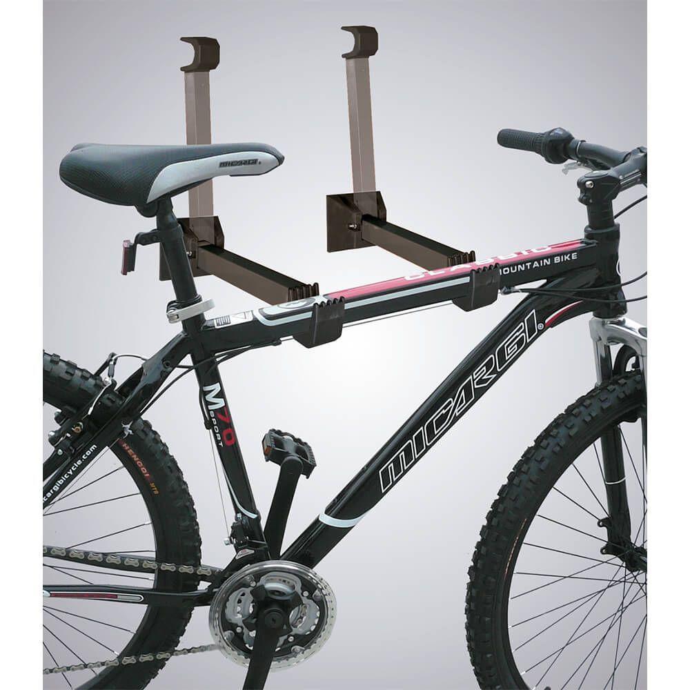 d59088e2a Suporte de Parede para Bicicleta até 20Kg com 2 Hastes Retráteis Material  em Q195 e ABS Preto Atrio - BI100 R  63