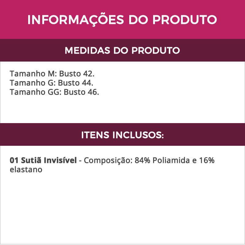 2e49feed21b2fe Sutiã Invisível Preto Costa Nua em Tule em renda com Bojo - TV4263 - Estilo  sedutor