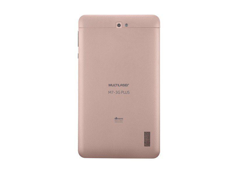de7851aa82 Tablet Multilaser M7 3G Plus Dourado Quad Core 1GB RAM Android 7 1.3/2MP  Tela 7 8G Bluetooth NB272 R$ 359,54 à vista. Adicionar à sacola