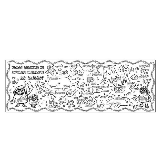 Tapete Infantil De Atividades Para Colorir Com Giz 8005 8 Fun