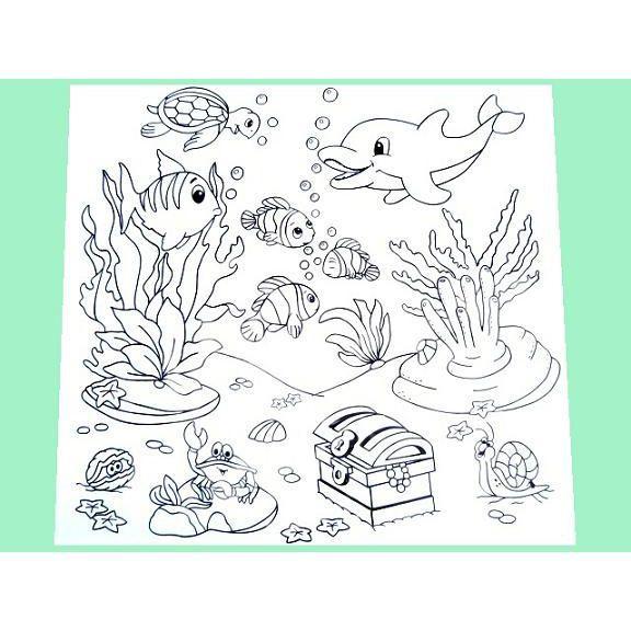 Tapete P Colorir Fundo Do Mar Kits For Kids