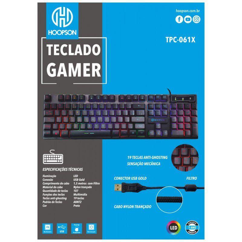 Teclado Gamer c/ Led RGB Profissional Hoopson - TPC-061X - PC Gamer -  Magazine Luiza