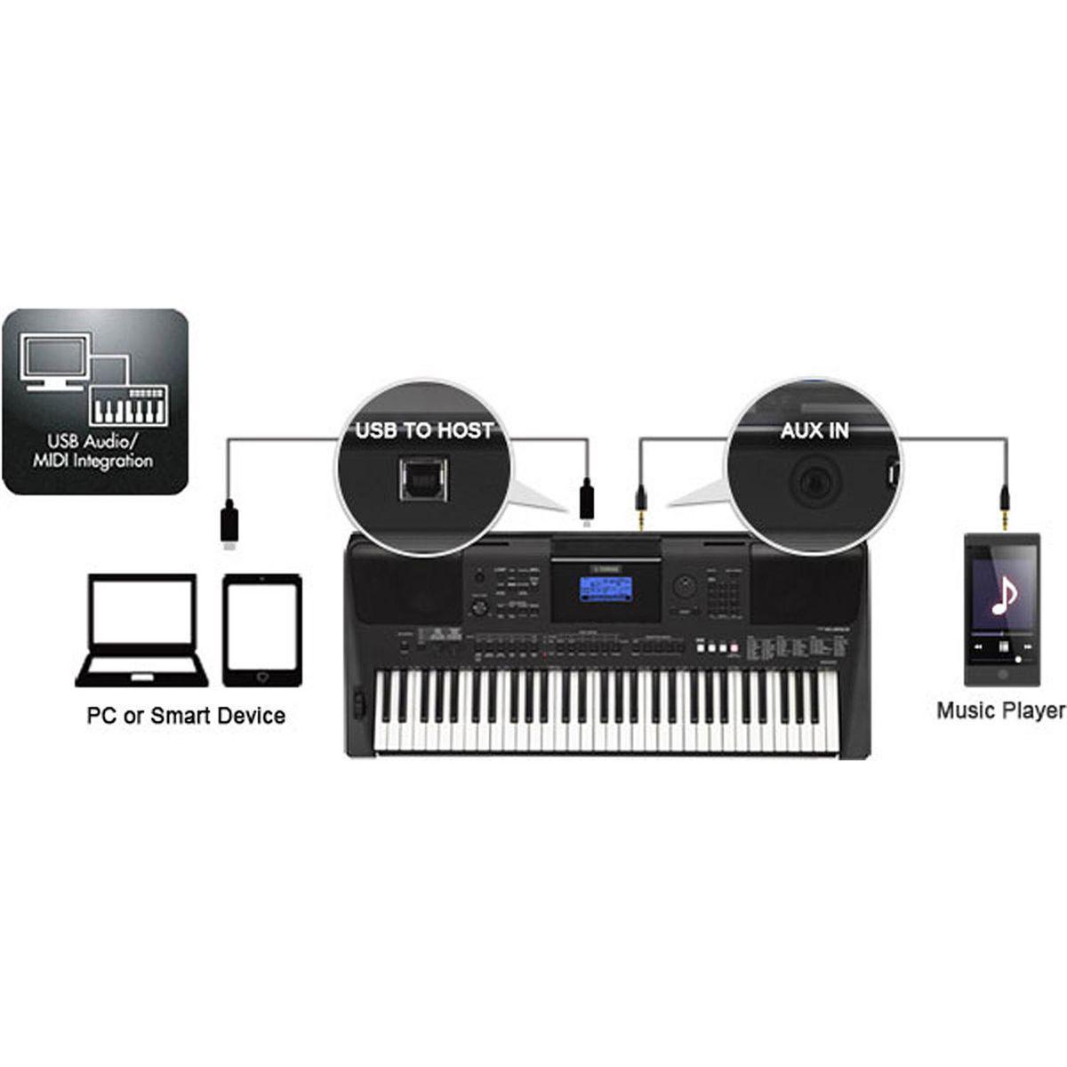Teclado Musical Arranjador 61 Teclas Com Fonte Psr E453 Yamaha Produto No Disponvel