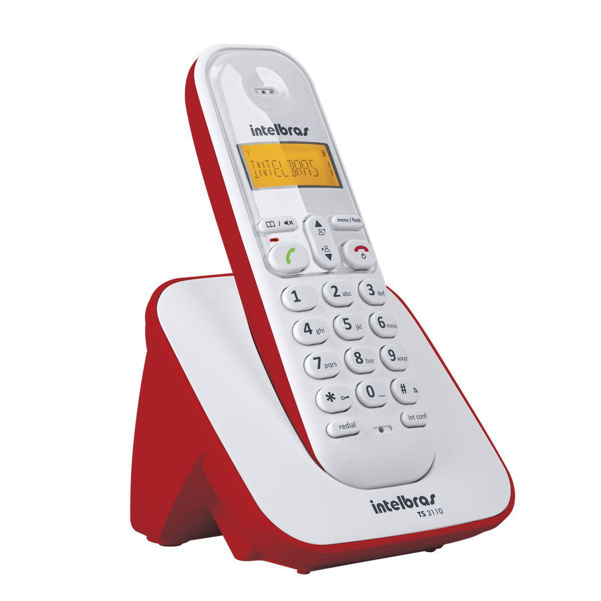 caf65341a Telefone sem Fio Intelbras TS3110 com Identificador - Telefone Sem ...