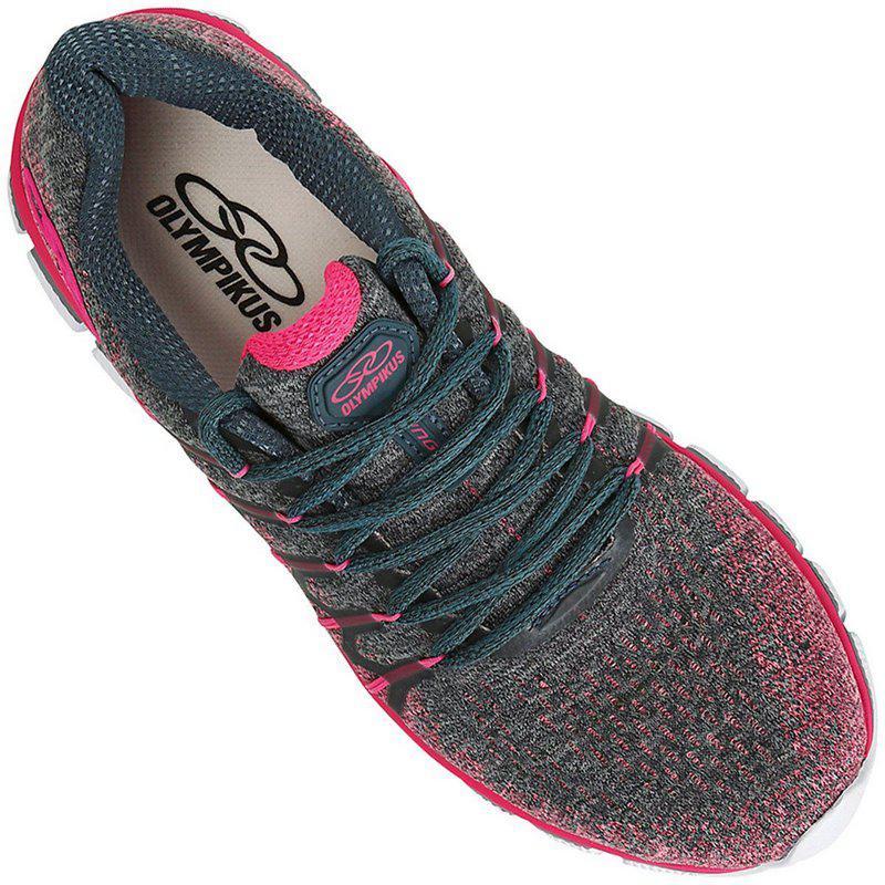 969a160702a Tênis Feminino Olympikus Diffuse 2 Pink Petróleo Caminhada Cód 20 R  199
