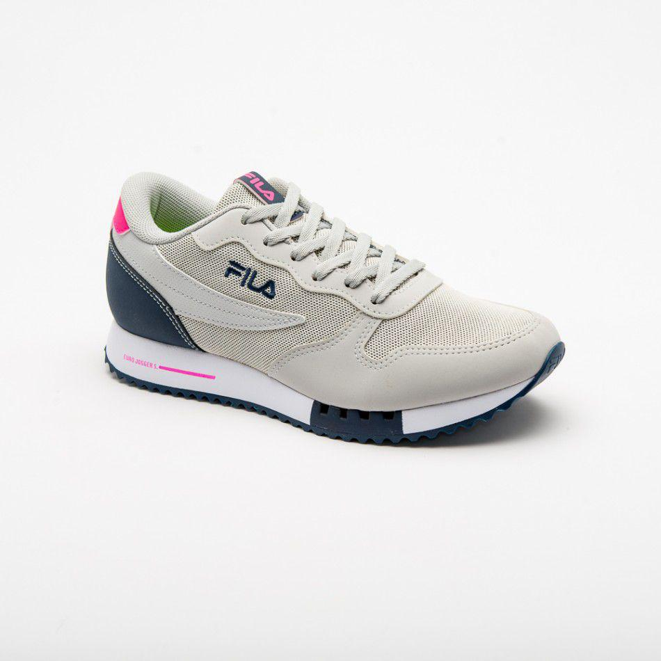 9c32e492bf Tênis Fila Euro Jogger Sport - Feminino - Cinza claro/Rosa R$ 219,90 à  vista. Adicionar à sacola