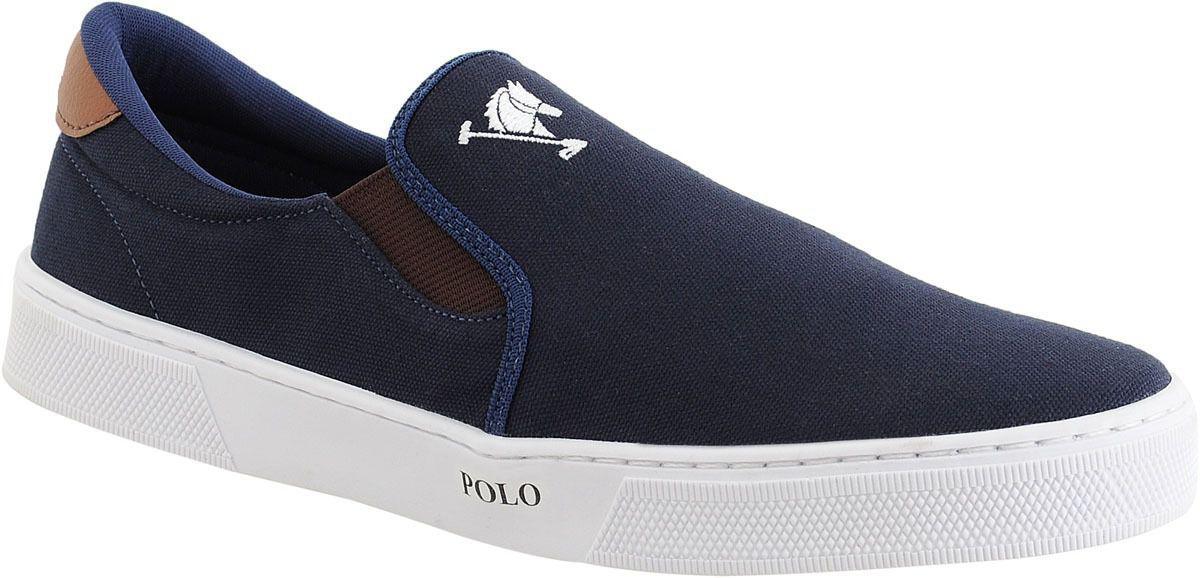735644919b2 Tenis Masculino Sapato Polo Joy Iate Com Elástico Azul - Tênis ...
