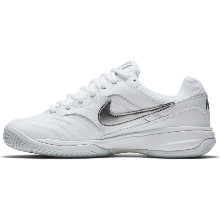 Tenis Nike Court Lite Feminino Branco e Cinza - Produtos para Tênis ... 552cf34168de6