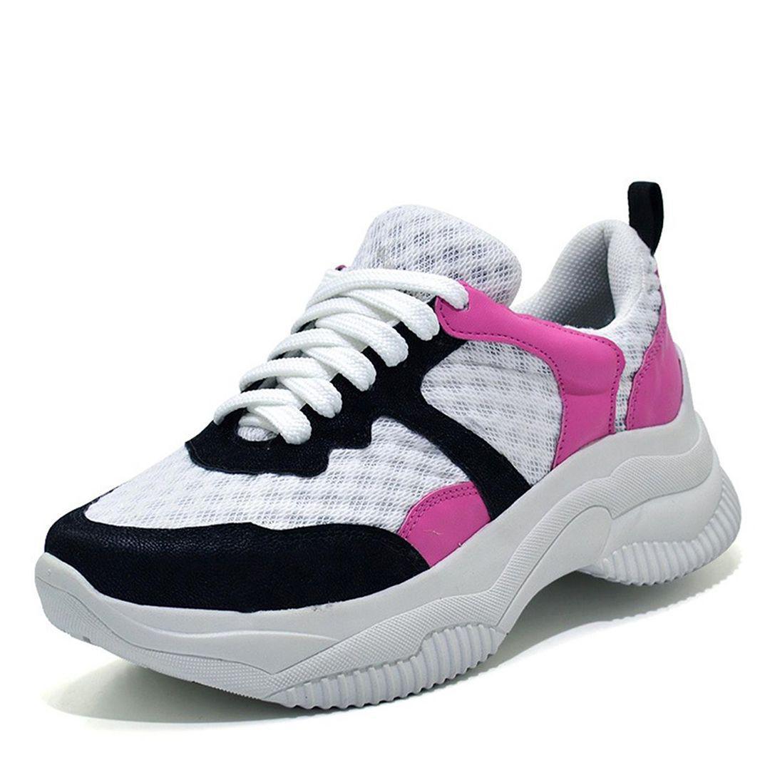Sneaker Chunky Casual Branco Preto