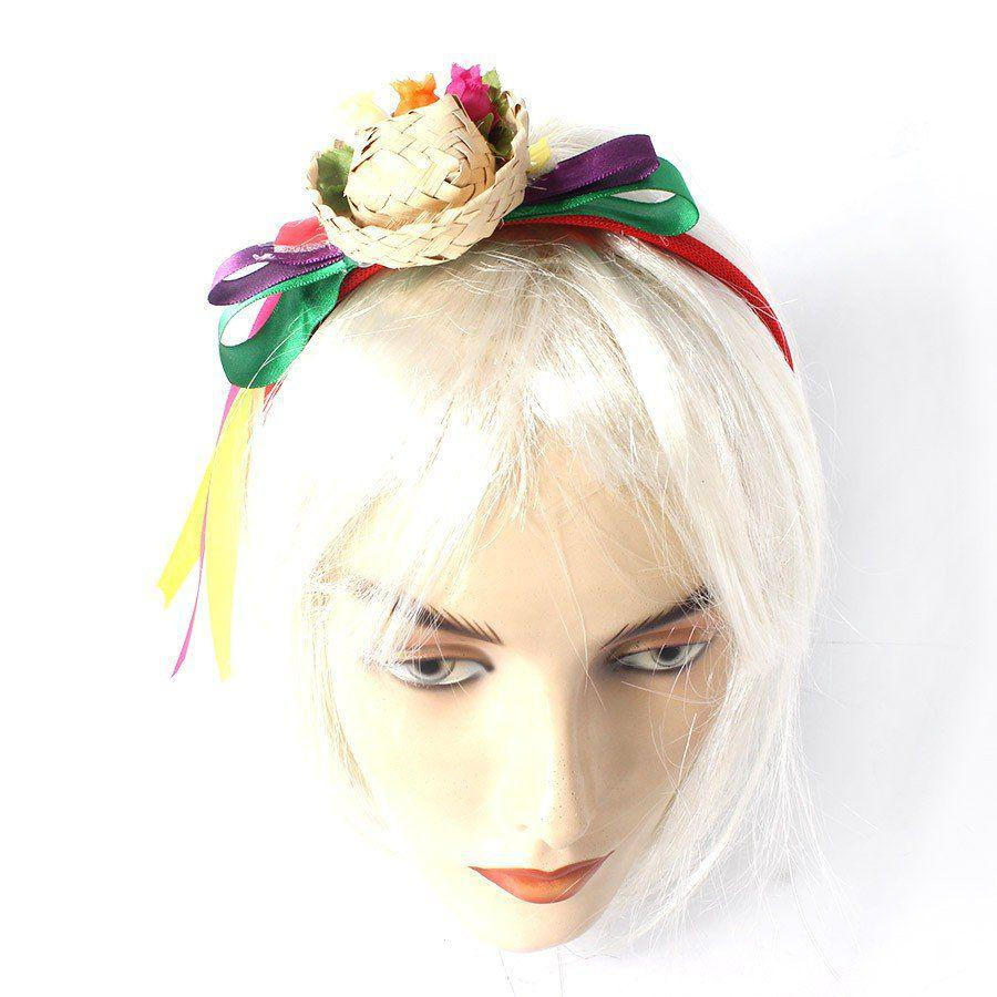 e817f0f4a82fc Tiara Mini Chapéu de Palha Festa Junina - Aluá festas - Tiara de ...