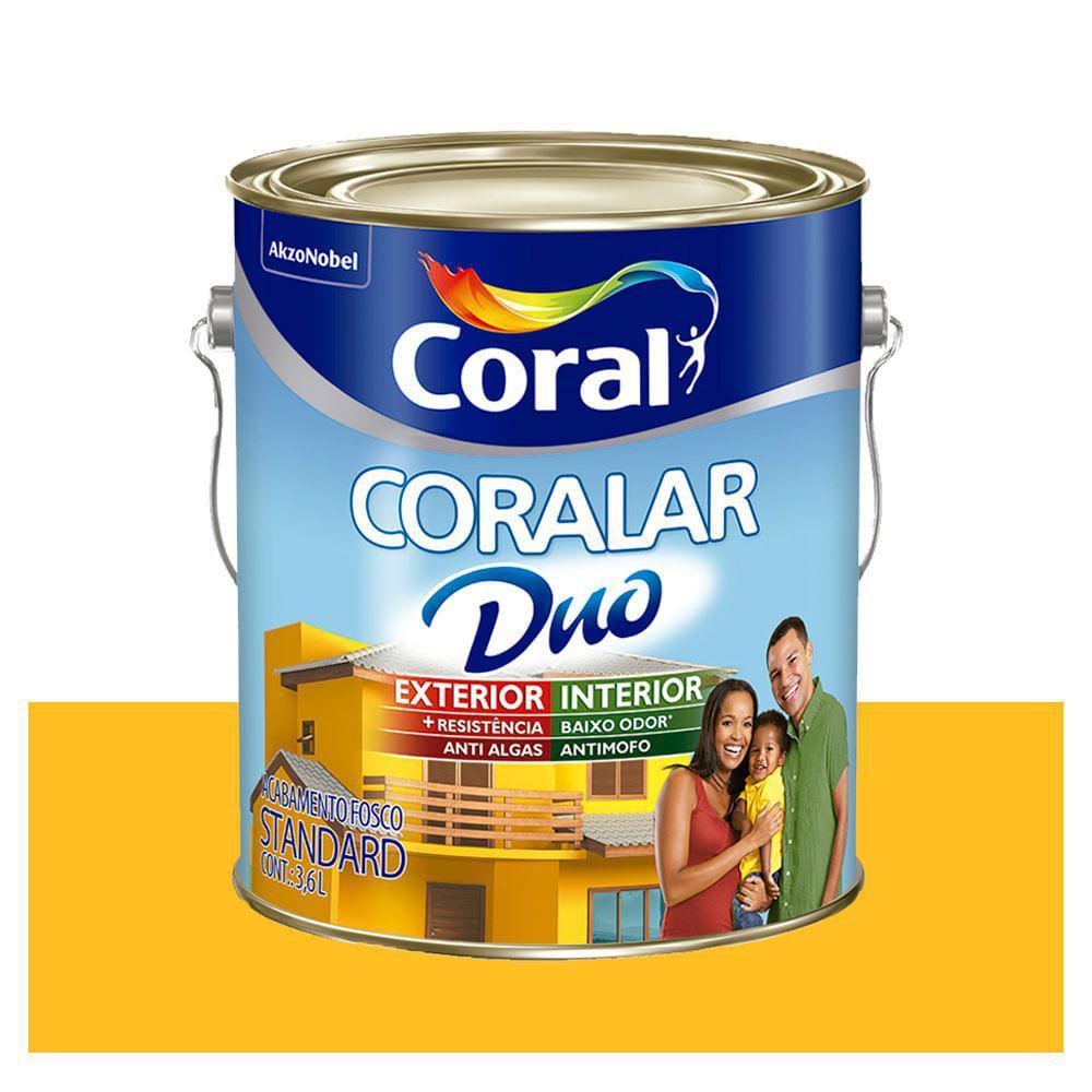 Tinta Coral Econômica Coralar Duo acrílica fosca amarelo frevo