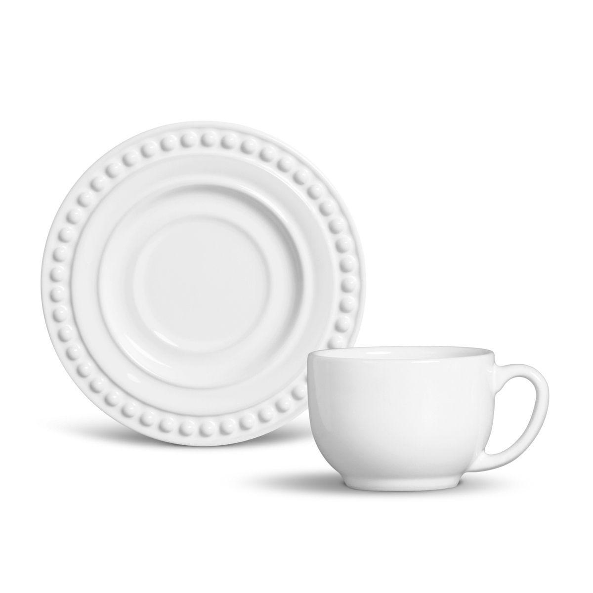 Aparelho De Jantar 42 Peças Atenas Branco Porto Brasil Aparelho