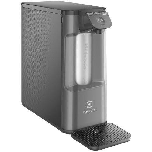Purificador de Água Electrolux de Mesa Cinza - Acqua Pure4x Água Gelada e Natural PE12G