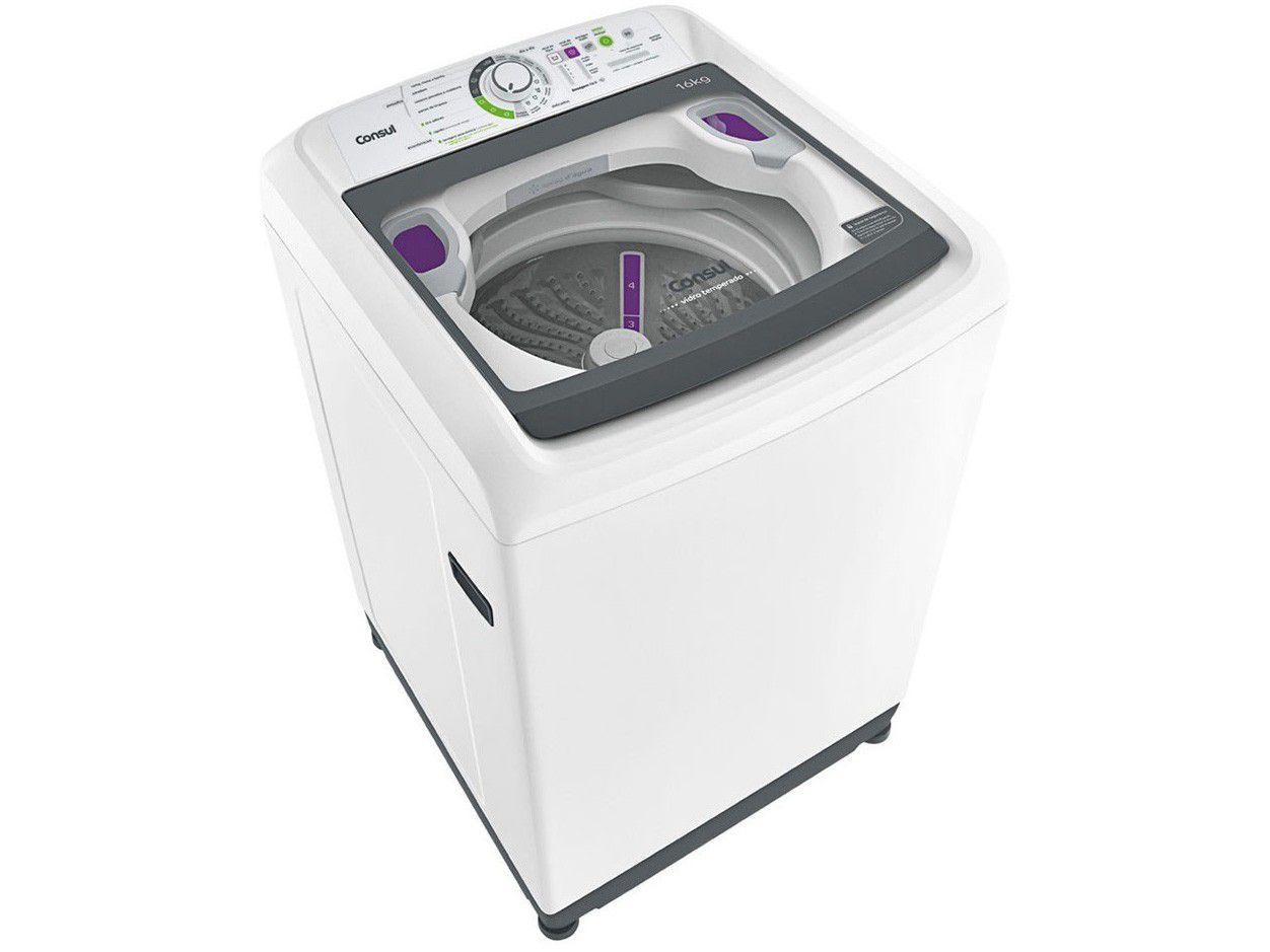 Lavadora de Roupas Consul CWL16AB 16kg - Cesto Inox 16 Programas de Lavagem