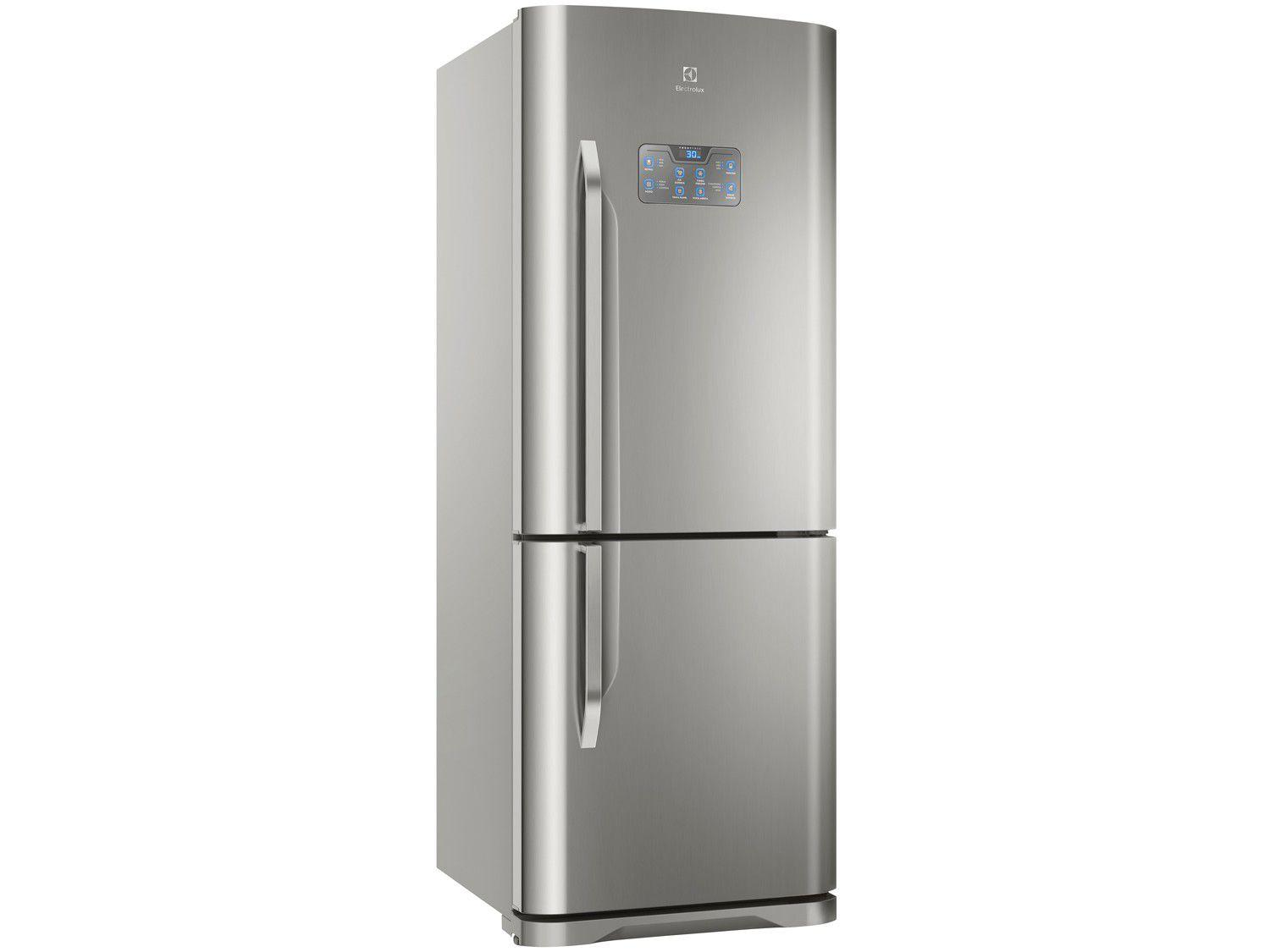 Geladeira/Refrigerador Electrolux Frost Free Inox - Inverse 454L Painel Blue Touch DB53X