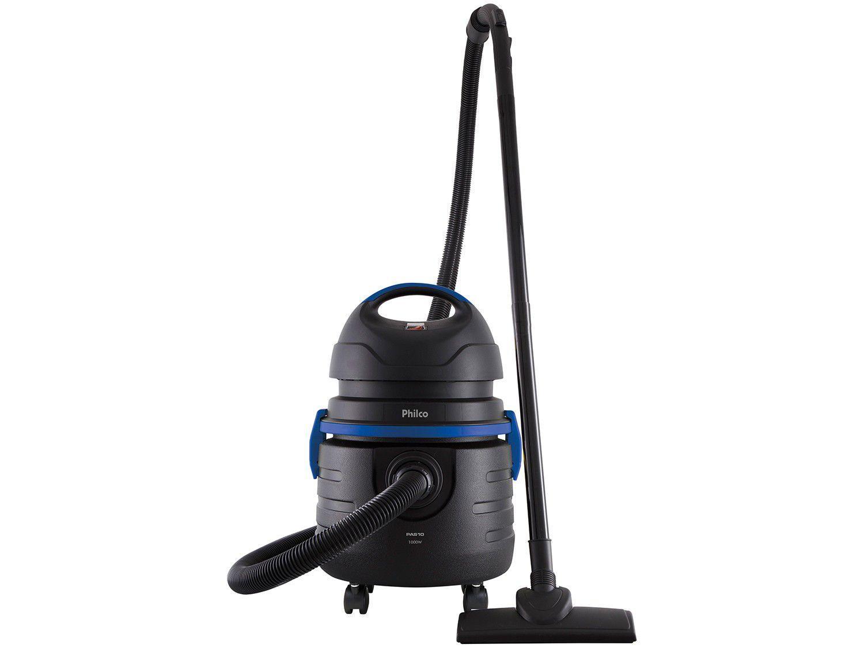 Aspirador de Pó e Água Philco 1000W Pas10 - Preto e Azul