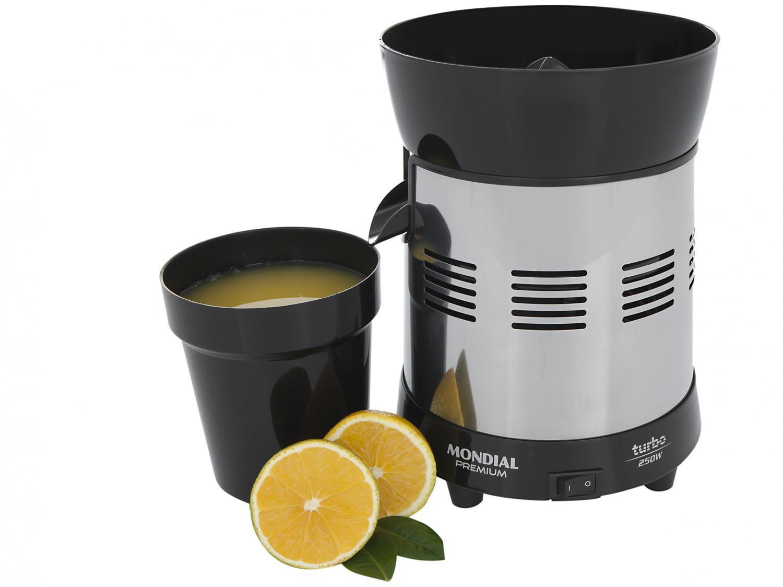 Espremedor de Frutas Mondial Cozinha E-10 Elétrico - Inox 250W Capacidade 1L