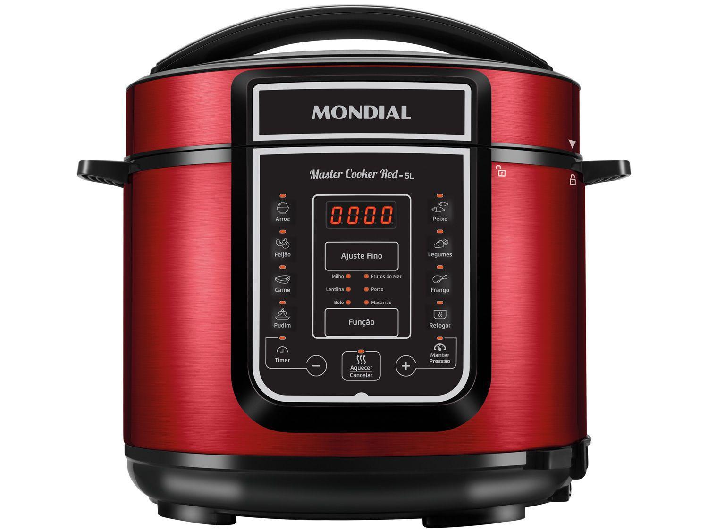 Panela de Pressão Elétrica Digital Mondial - Master Cooker Red PE-39 900W 5L Timer