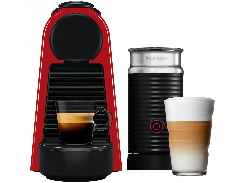 Cafeteira Nespresso Combo Essenza Mini - Red + Aero3 Vermelha