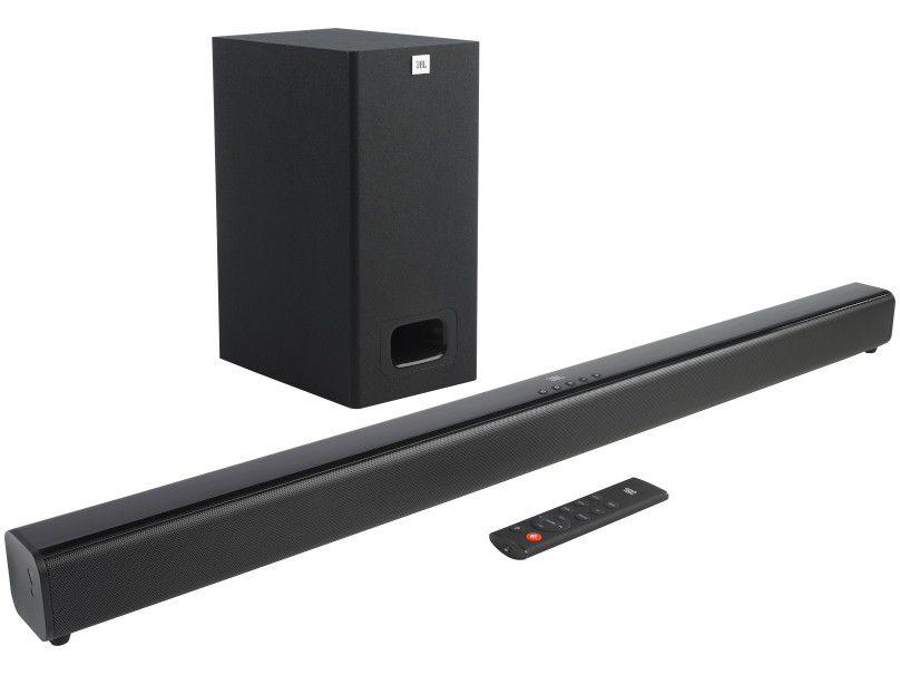 Soundbar JBL com Subwoofer Bluetooth 55W - 2.1 Canais SB130
