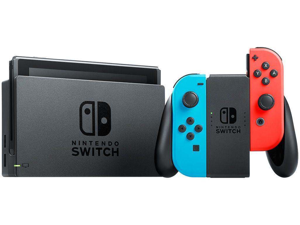 Nintendo Switch 32GB HAC-001-01 1 Controle Joy-Con - Vermelho e Azul