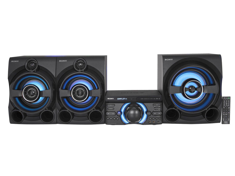 Mini System Sony Bluetooth DVD USB MP3 CD Player - Rádio FM 2150W 2 Caixas e Subwoofer HDMI MHC-M80D