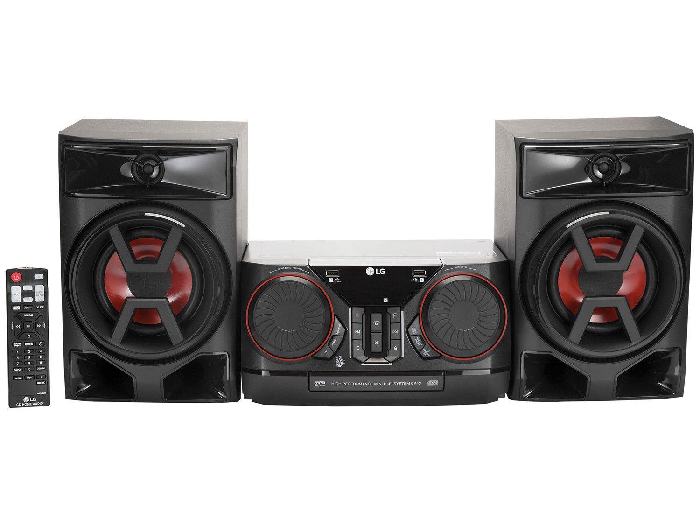 Mini System LG Bluetooth 220W CD Player FM - USB Xboom CK43