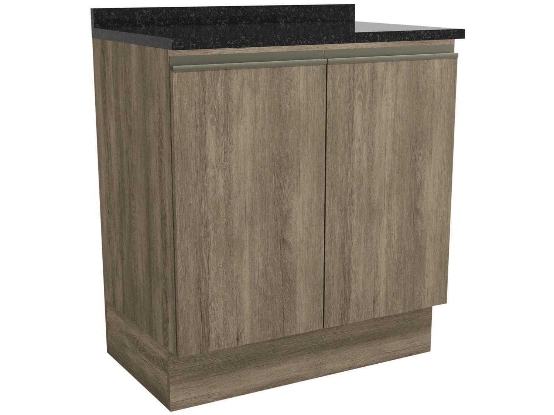 Balcão de Cozinha para Pia Kappesberg 2 Portas - com Tampo Maxxi CB381-NO