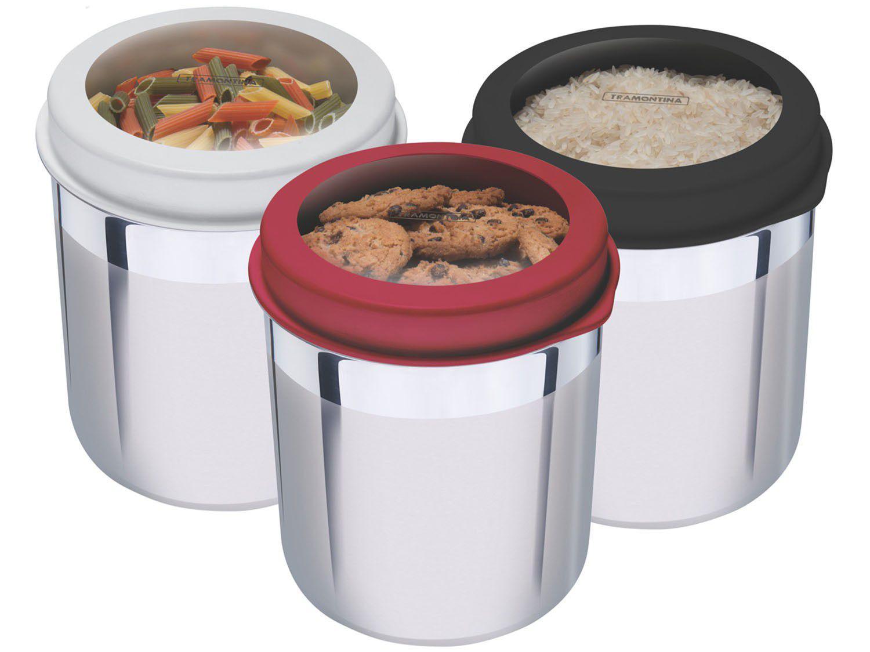 Conjunto Pote Redondo 3 Peças com Tampa Tramontina - Cucina 64220/624