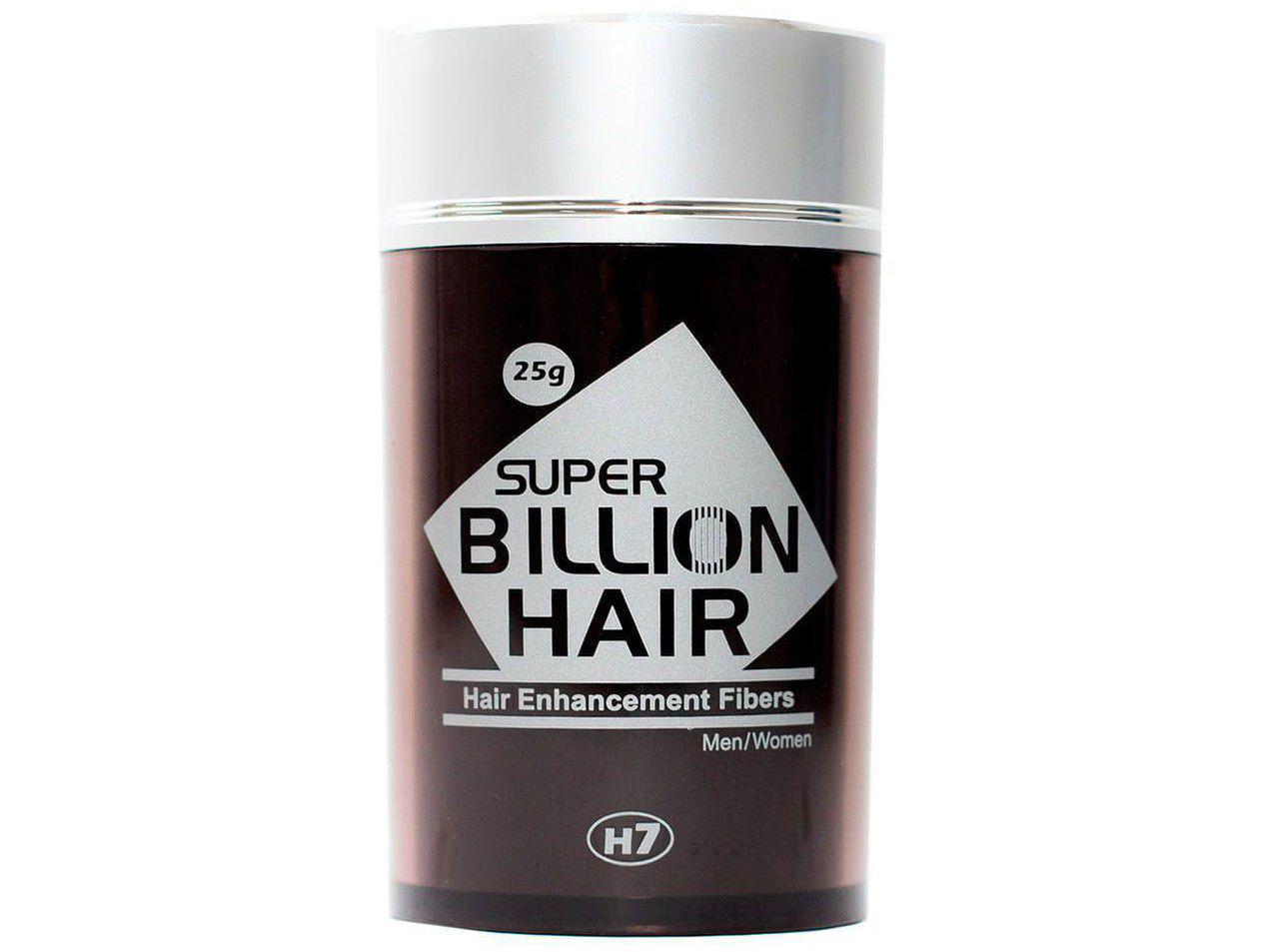 Super Billion Hair Fibers 25g - Maquiagem para Calvície - Cor Preto