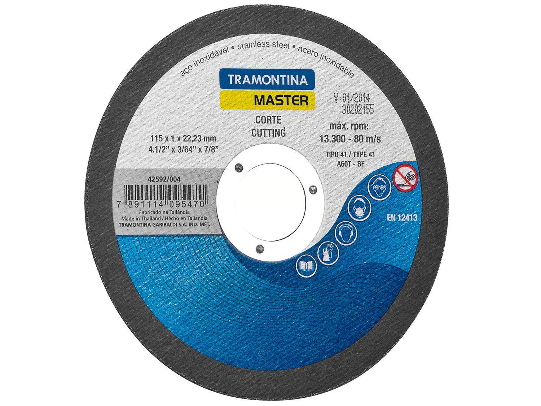 "Disco de Corte Fino Ideal para Aço 4.1/2"" - Tramontina 42592004"