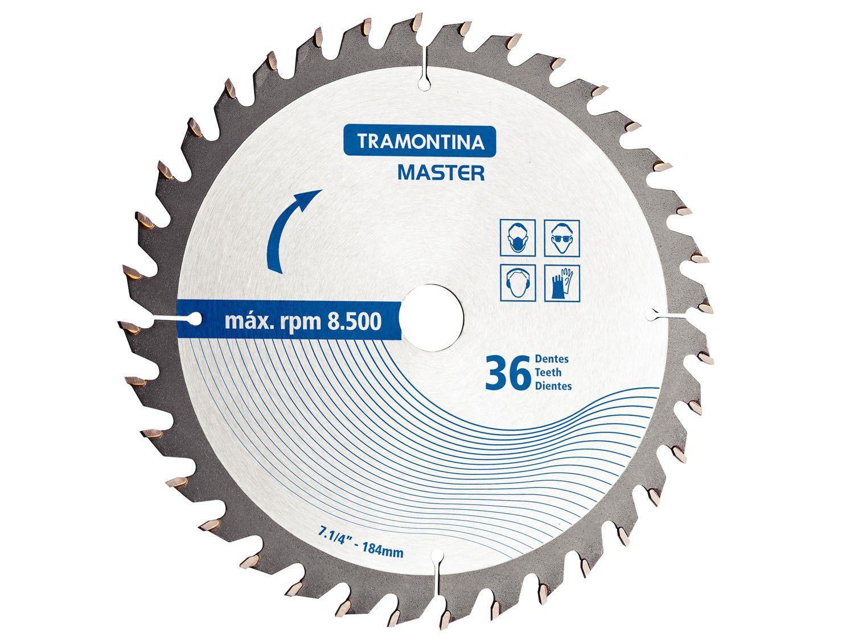 """Disco de Corte p/ Serra Circular 24 Dentes - 7.1/4"""" Blister 1 Peça Tramontina - 42580124"""