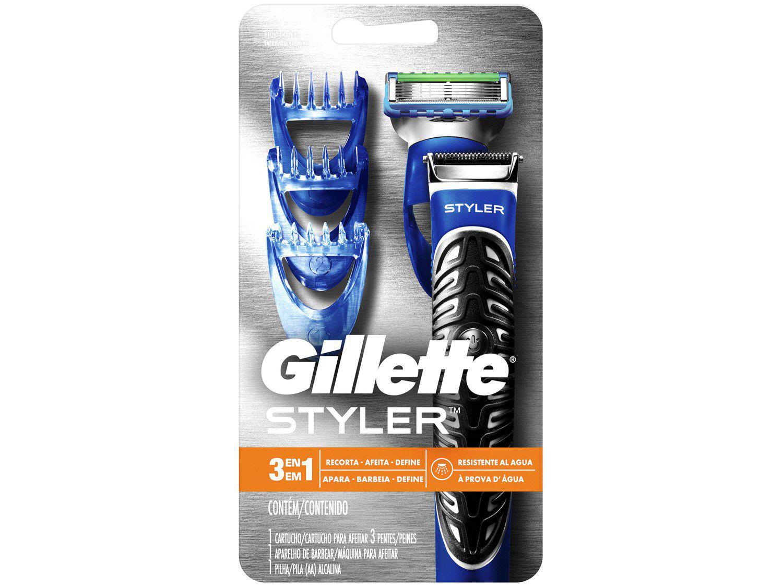 Barbeador Gillette Seco e Molhado - Styler 3 em 1
