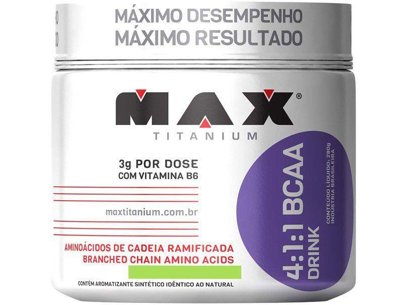 BCAA 4:1:1 Drink 280g Uva - Max Titanium